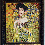 """Картины и панно ручной работы. Ярмарка Мастеров - ручная работа Вышитая картина Г.Климт """"Золотая Адель"""". Handmade."""