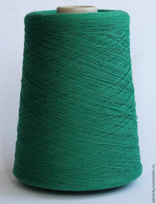 Вязание ручной работы. Ярмарка Мастеров - ручная работа. Купить 90% меринос, 10% ПА. Handmade. Зеленый, пряжа