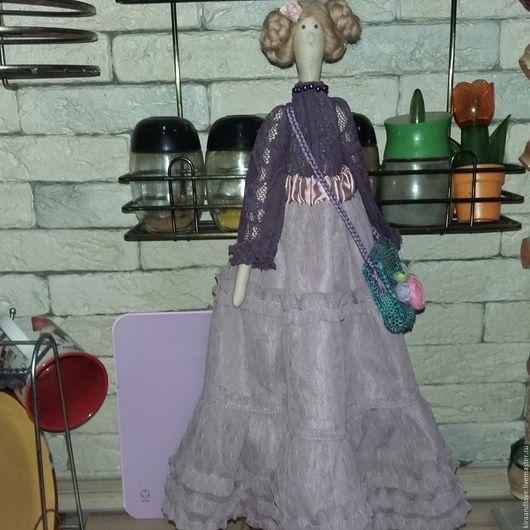 Куклы Тильды ручной работы. Ярмарка Мастеров - ручная работа. Купить Кукла Тильда. Handmade. Тёмно-фиолетовый, кукла в подарок