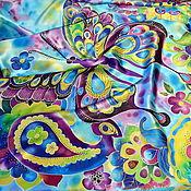Аксессуары handmade. Livemaster - original item Silk scarf batik Spring road!. Handmade.