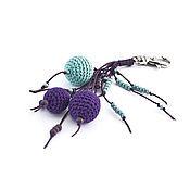 Аксессуары ручной работы. Ярмарка Мастеров - ручная работа Брелок для сумки, ключей Притяжение фиолетовый мятный. Handmade.