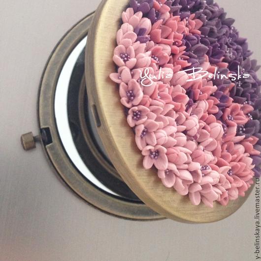 Декорированные зеркальца ручной работы. Ярмарка Мастеров - ручная работа. Купить Зеркальце карманное. Handmade. Зеркальце подарок девушке