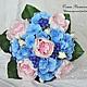 Свадебные цветы ручной работы. Ярмарка Мастеров - ручная работа. Купить Свабедный букет. Handmade. Букет, английские розы, черника