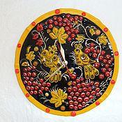 """Для дома и интерьера ручной работы. Ярмарка Мастеров - ручная работа Часы """"Рябиновое настроение""""-фьюзинг. Handmade."""
