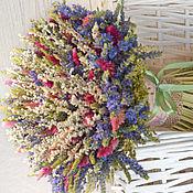 Цветы и флористика ручной работы. Ярмарка Мастеров - ручная работа «Вероника» букет из сухоцветов. Handmade.