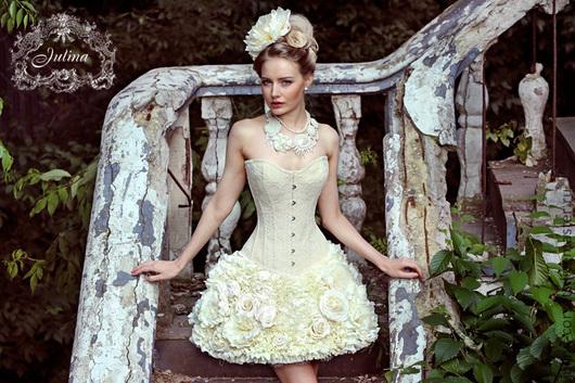 Платья ручной работы. Ярмарка Мастеров - ручная работа. Купить Юбка и корсет Имя Розы кружево и цветы из шелка. Handmade.