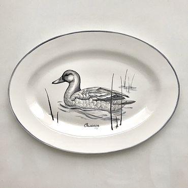 Посуда ручной работы. Ярмарка Мастеров - ручная работа Блюдо подарочное Селезень. Handmade.
