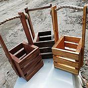 Цветы и флористика ручной работы. Ярмарка Мастеров - ручная работа Деревянные ящики. Handmade.