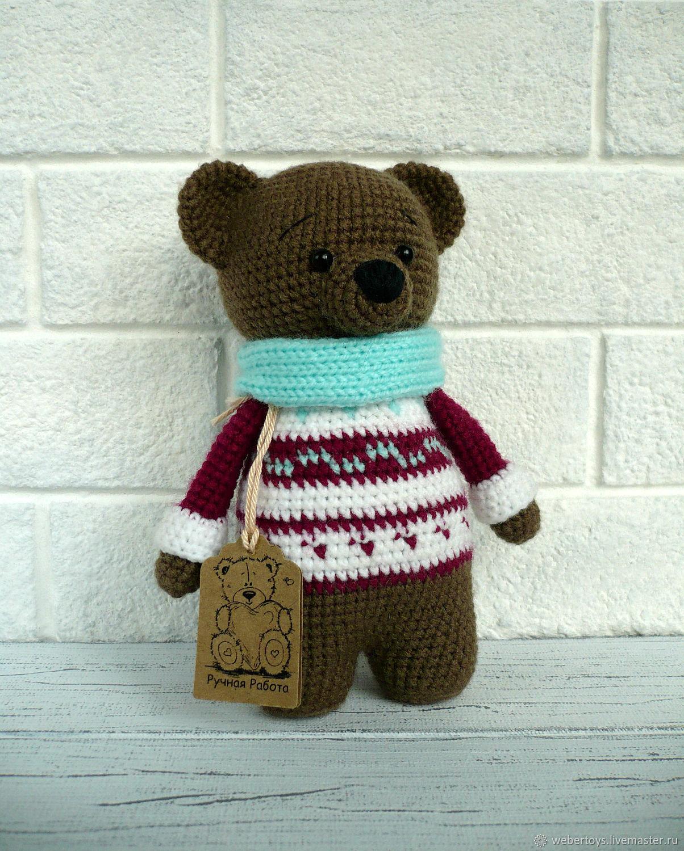 Медведь в снуде и жаккардовом свитере, Мягкие игрушки, Нижний Тагил,  Фото №1