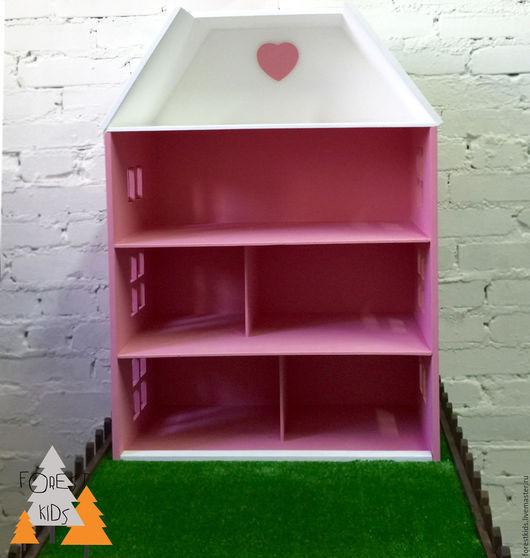 Кукольный дом ручной работы. Ярмарка Мастеров - ручная работа. Купить Домик для куклы. Handmade. Розовый, для детей