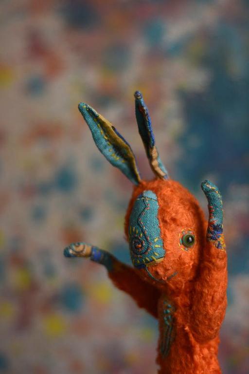 Мишки Тедди ручной работы. Ярмарка Мастеров - ручная работа. Купить дикомятный заяц. Handmade. Рыжий, подарок, немецкая вискоза
