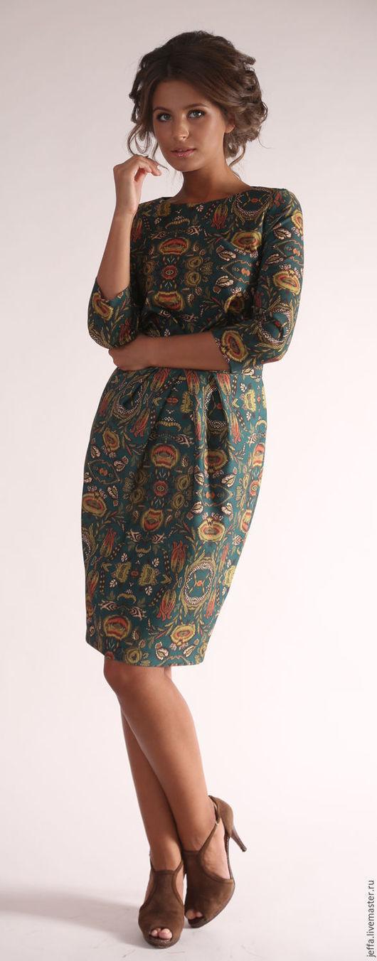 Платья ручной работы. Ярмарка Мастеров - ручная работа. Купить Платье Артемида арт.5269. Handmade. Тёмно-зелёный