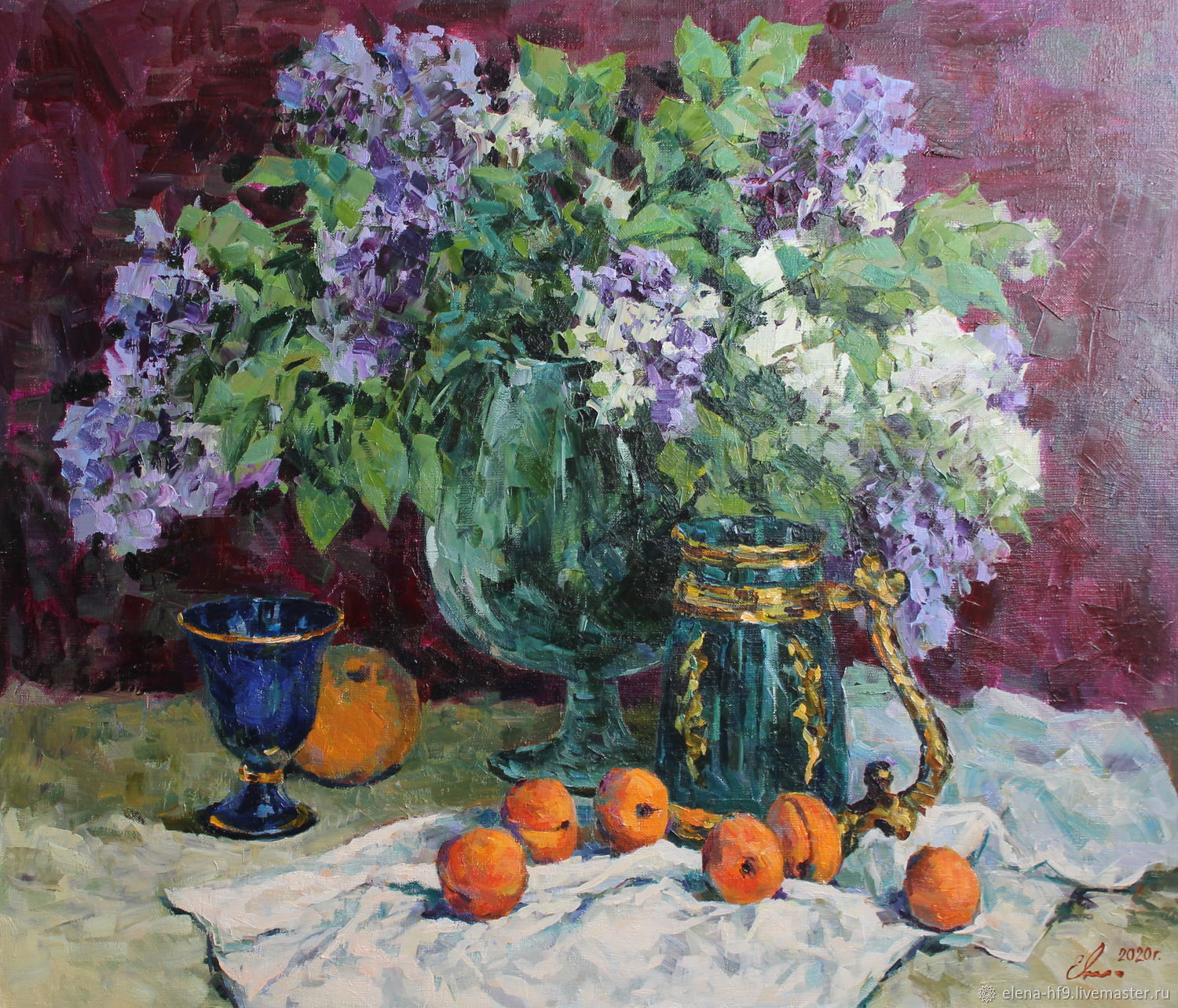 A picture. Bouquet of lilac and fruits, Pictures, St. Petersburg,  Фото №1