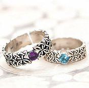 Украшения handmade. Livemaster - original item Ring with Celtic squares and stone. Handmade.