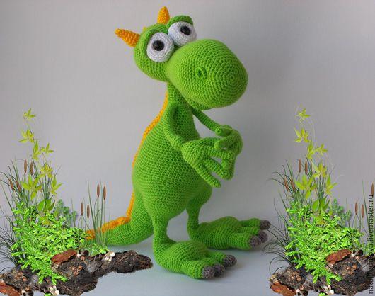 ярко-зеленый, игрушка дракон, дракон,дракончик,дракон игрушка,дракоша, вязаная игрушка,игрушка ручной работы игрушка вязаная, игрушка вязаная крючком подарок на любой случай