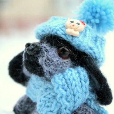 Куклы и игрушки ручной работы. Ярмарка Мастеров - ручная работа Щенок Бим Игрушка из шерсти. Handmade.