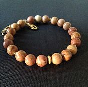 Украшения handmade. Livemaster - original item Men`s gold plated bracelet made of Jasper.. Handmade.