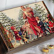 Для дома и интерьера handmade. Livemaster - original item The box Santa Claus brought gifts decoupage. Handmade.