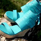Туфли ручной работы. Ярмарка Мастеров - ручная работа Туфли на танкетке из натуральной кожи ягненка. Handmade.
