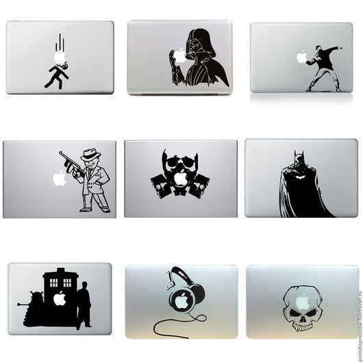 Компьютерные ручной работы. Ярмарка Мастеров - ручная работа. Купить Наклейка на apple macbook. Handmade. Разноцветный, ноутбук