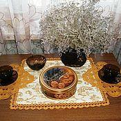 """Для дома и интерьера ручной работы. Ярмарка Мастеров - ручная работа Салфетки """"Янтарный чай"""". Handmade."""