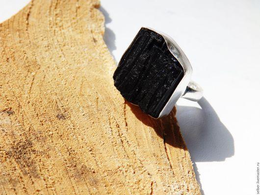 Кольца ручной работы. Ярмарка Мастеров - ручная работа. Купить Кольцо с шерлом (черный турмалин) 18.5-18.75 р-р. Handmade.