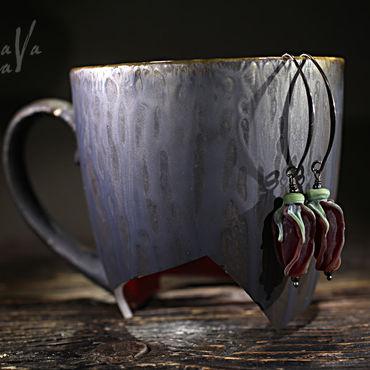 """Украшения ручной работы. Ярмарка Мастеров - ручная работа Серьги """"Черный бархат"""". Handmade."""