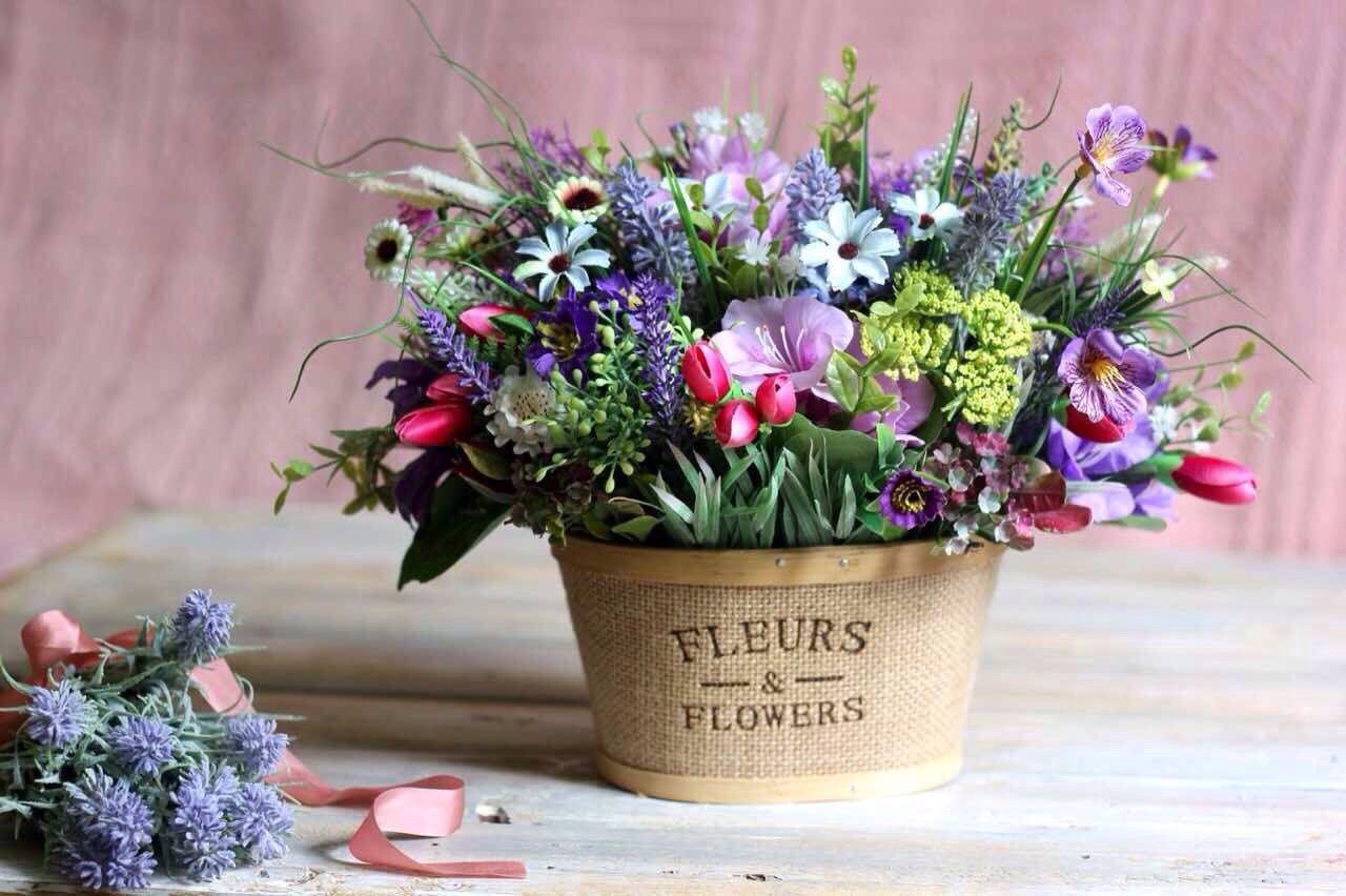 Цветы декор