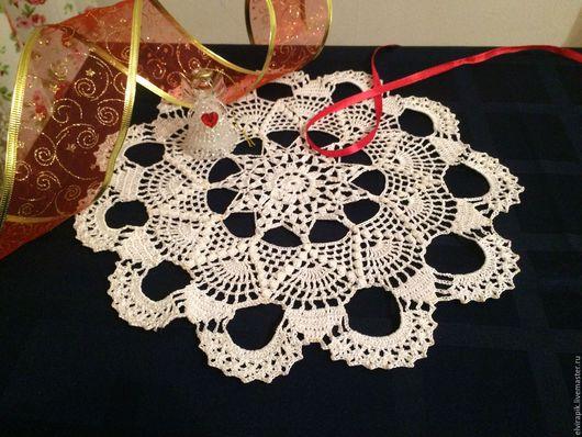 Текстиль, ковры ручной работы. Ярмарка Мастеров - ручная работа. Купить Салфетка Свадебный марш. Handmade. Салфетка крючком