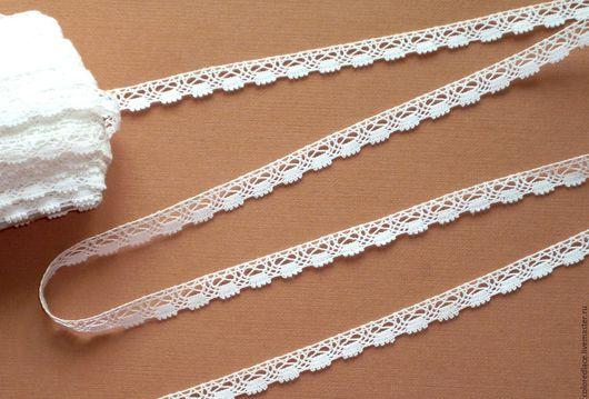 Шитье ручной работы. Ярмарка Мастеров - ручная работа. Купить Белое хлопковое ажурное кружево арт. 187. Handmade. Кружево