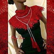 Аксессуары handmade. Livemaster - original item Lacy shawl - Bacchus from Olga Lace. Handmade.