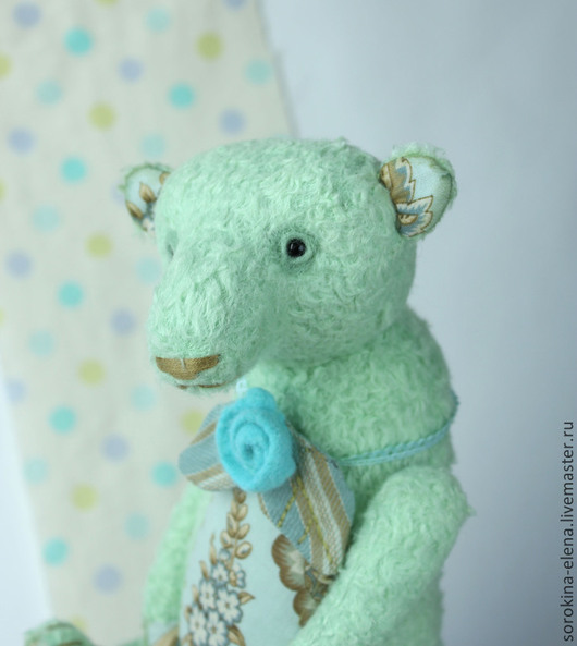 Мишки Тедди ручной работы. Ярмарка Мастеров - ручная работа. Купить Июньский медведь. Handmade. Мятный, мишка мальчик, шерсть