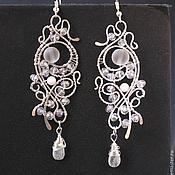 handmade. Livemaster - original item Earrings the Ghost of a Gentle (light version). Handmade.