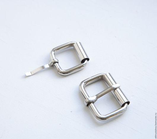 Шитье ручной работы. Ярмарка Мастеров - ручная работа. Купить Пряжка металлическая Серебро,  3 размера. Handmade. Серебряный, никель