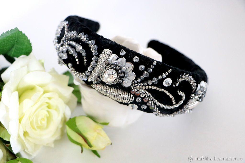 Russian style ebroidered headband Embellished hairband, Headband, Moscow,  Фото №1