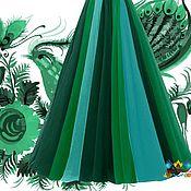 """Одежда ручной работы. Ярмарка Мастеров - ручная работа многоцветная юбка в пол 12-клинка """"Драгоценный камень"""". Handmade."""