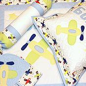 Работы для детей, ручной работы. Ярмарка Мастеров - ручная работа Именной комплект для новорожденного. Handmade.