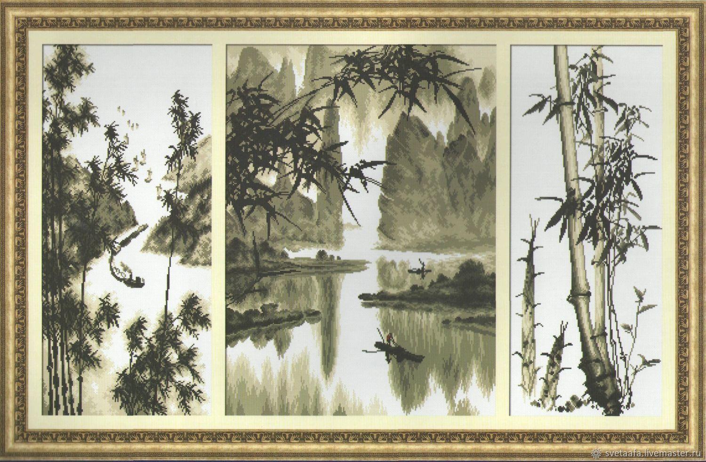"Триптих ""Бамбук"", Картины, Кронштадт,  Фото №1"