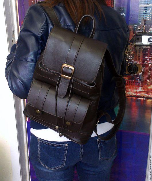 Рюкзаки ручной работы. Ярмарка Мастеров - ручная работа. Купить Рюкзак кожаный 18. Handmade. Рюкзак, рюкзак городской