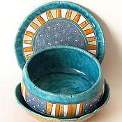 """Посуда ручной работы. Ярмарка Мастеров - ручная работа Набор посуды """"Юрмала 2"""". Handmade."""