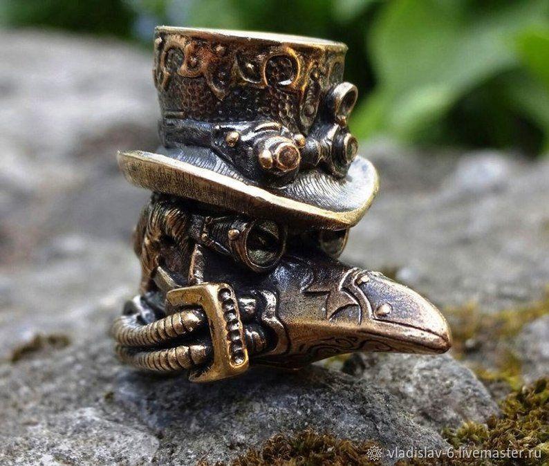 """Бусина """"Чумной Доктор"""" для темляков или браслетов бронза, Брелок, Волгоград,  Фото №1"""