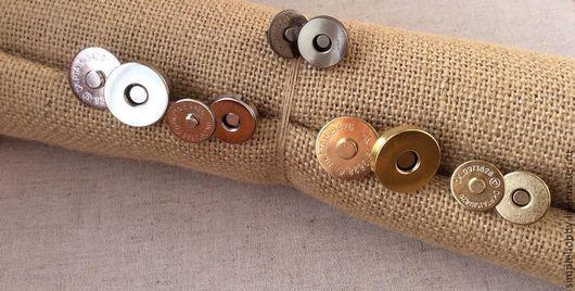 Шитье ручной работы. Ярмарка Мастеров - ручная работа. Купить Кнопка магнитная, 5 видов. Handmade. Кнопки, для сумки, металлический