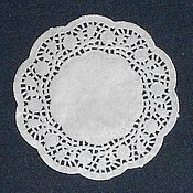 Декор для флористики ручной работы. Ярмарка Мастеров - ручная работа Салфетки бумажные кружевные диаметр 18см. Handmade.