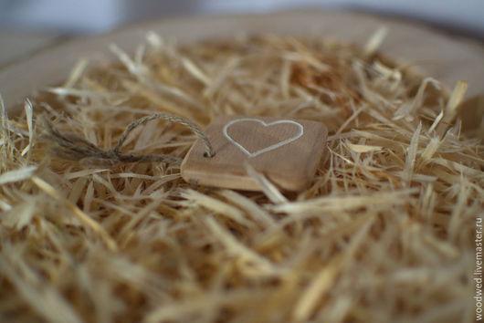 Подарки на свадьбу ручной работы. Ярмарка Мастеров - ручная работа. Купить Брелок с сердцем. Handmade. Брелок на свадьбу, рустик, дерево