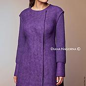 """Одежда ручной работы. Ярмарка Мастеров - ручная работа Пальто из мериносовой шерсти """"Lilac """". Handmade."""