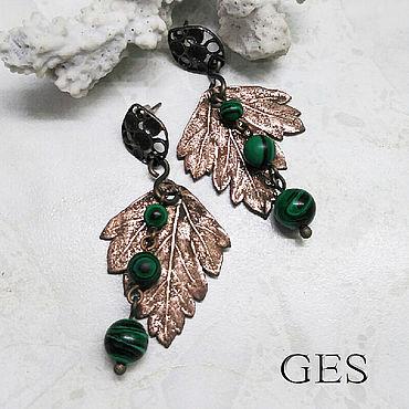 Decorations handmade. Livemaster - original item Earrings with parsley. Handmade.