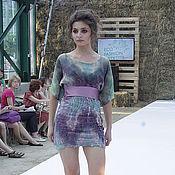 Одежда ручной работы. Ярмарка Мастеров - ручная работа Платье из шелка и шерсти. Handmade.