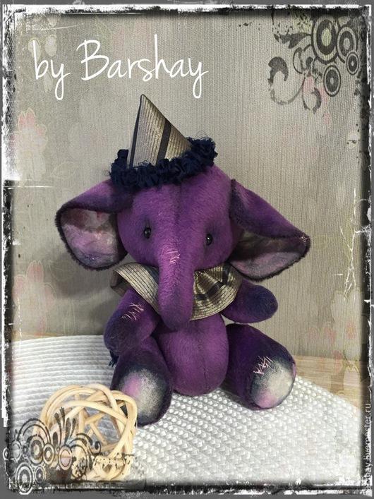 Фиолетовый Тедди слоненок `Остин`. Игрушки ручной работы от Евгении Баршай.