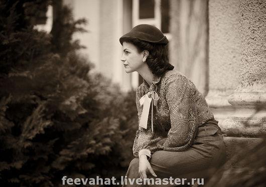 Шляпы ручной работы. Ярмарка Мастеров - ручная работа. Купить шляпка ретро. Handmade. Шляпа, коричневый, осенняя шляпа