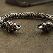 Украшения handmade. Livemaster - original item Bracelet white bronze - Bear. Handmade.